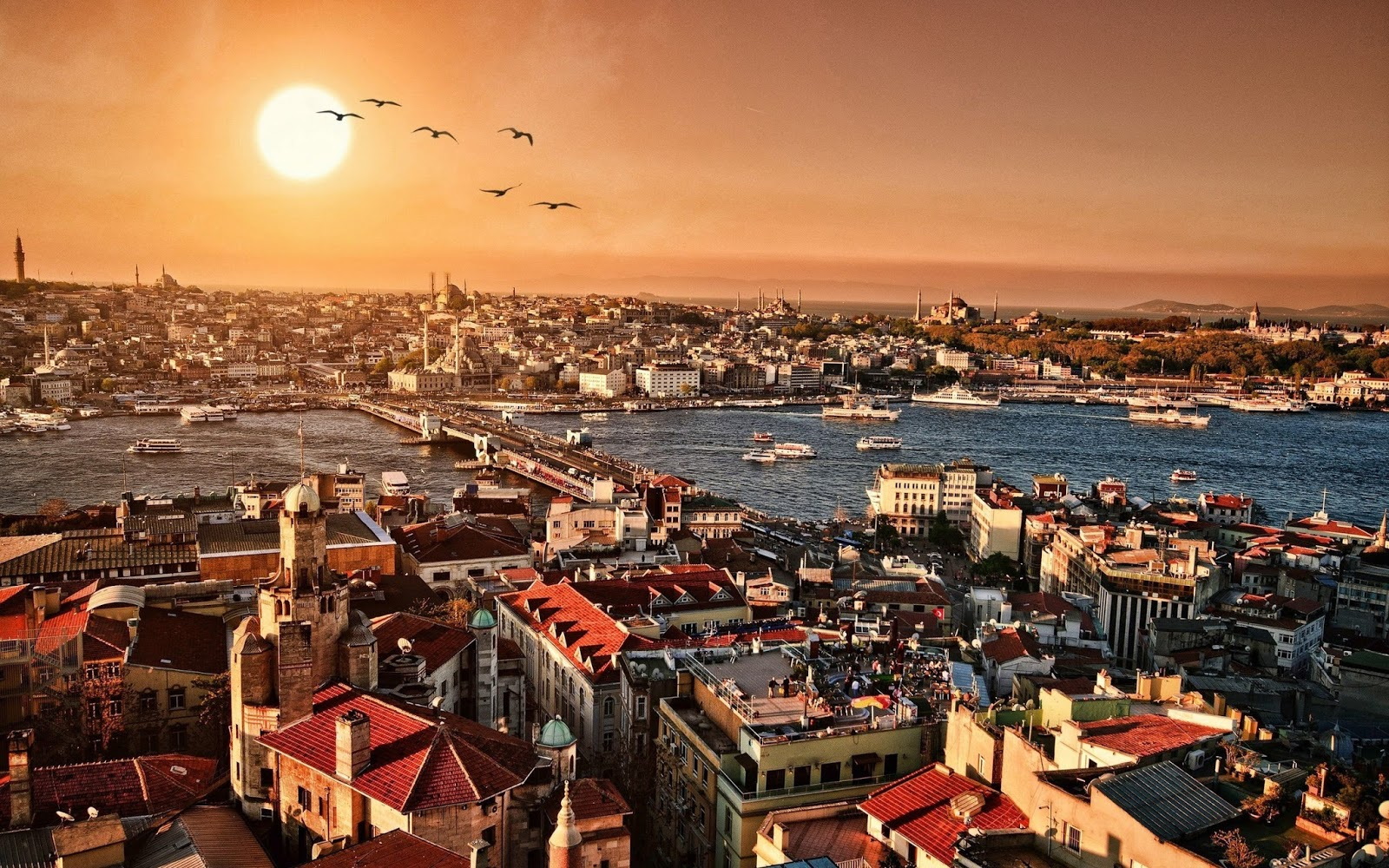 Magnificent view over the city of Istambul, Turkiey
