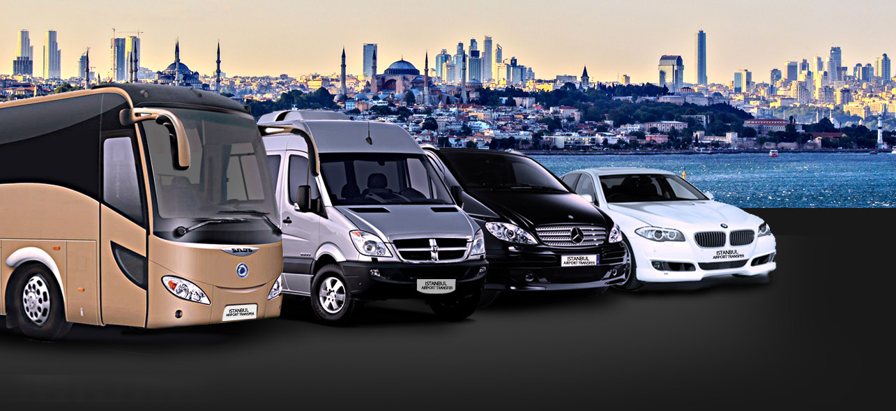 Travelling with Stanbul Airport Transfer Service you are provided with luxury travsfer service by modern Mercedess cars/vans/buses..